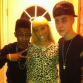 Justin Bieber with Lil Twist's family