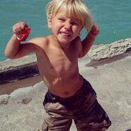 Jaxon Bieber shirtless
