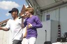 Justin Bieber performing at Family Frenzy