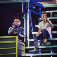 Believe Tour Justin Bieber and DJ Tay James
