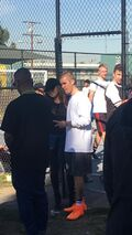 Justin Bieber at Imperial Courts Recreation Center LA