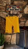 Rib bike shorts - golden yellow