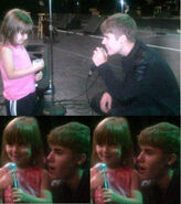 Justin singing to Jazzy