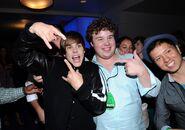 Justin Bieber with Wilson Warren
