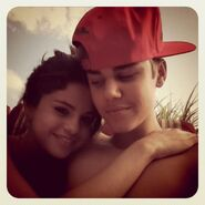 Justin Bieber and Selena Gomez August 2011
