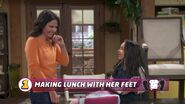 Making Lunch with Her Feet