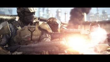 ShockTrooper Armor in Desert Fatigue