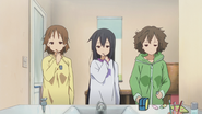 Ui, Azusa and Jun tired