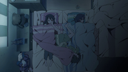 Jun, Azusa and Ui in bed
