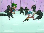 Henry & June fight against Ninjas