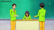 Misaki does paperwork