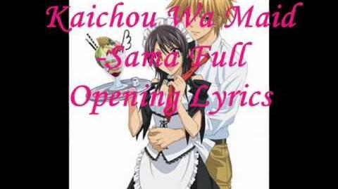 Kaichou Wa Maid-Sama OP Full Lyrics - My Secret