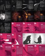 Monsterverse Godzilla infographics