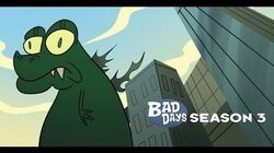 Godzilla having a real Bad Day with Stan Lee
