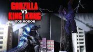 Godzilla vs King Kong Stop Motion