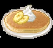 Fluffy cream banana pancake