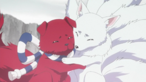 Ranmaru and Ginji hug.png