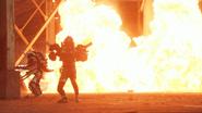 Drago Knight Critical Strike & Bang Bang Critical Fire explosion