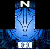 KRGh-Dark Necrom Blue Ghost Eyecon (Top Sticker)