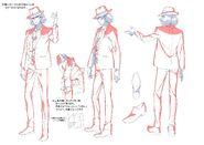 Shotaro Character Model Sheet 1