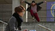 Oren flying kick