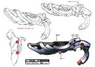Deadlemur's gun concept art
