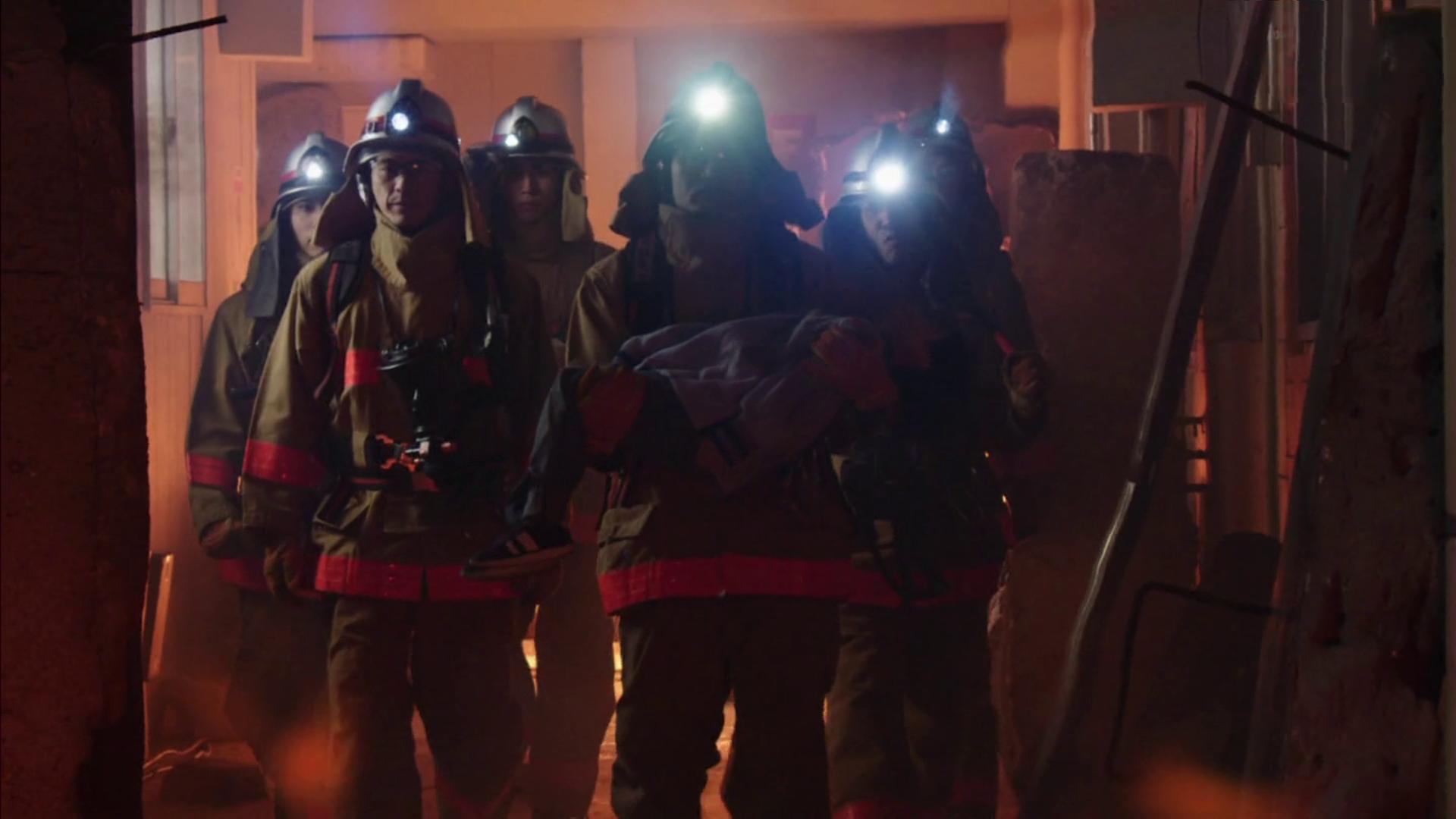 Firefighters Battling the Blaze