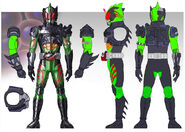 Kamen rider Amazon new Omega concept art