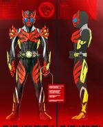 Kamen Rider Zero-One Flaming Tiger Concept Art