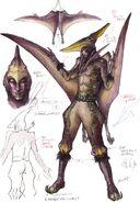 Pteranodon Yummy (Male) concept art
