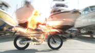 In the motorcycle transformation