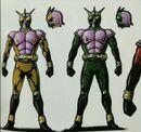 Kuuga's Helmet Unused Yellow And Green Form