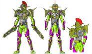 Kamn rider Bravo durian arm concept art