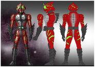 Kamen Rider Amazon Alpha concept art