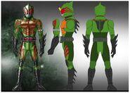 Kamen Rider Amazon Omega concept Art