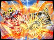 Double rider kick battle city