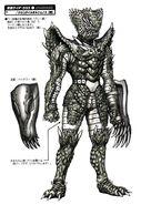 Crocodile Orphnoch Fight Form concept art
