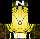 KRGh-Dark Necrom Yellow Ghost Eyecon (Top Sticker)