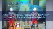 Tokusatsu Twitter Tokusatsu Fan Shows Footage from Stage Play featuring Ultraman and Godzilla