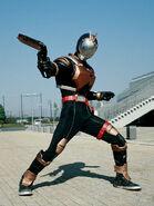 Riotrooper wielding Axelaygun Blaster Mode