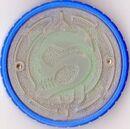 Skull crystal medal