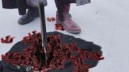 Horobi stabbed his Katana to the ground Stpe 3