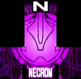 KRGh-Dark Necrom Pink Ghost Eyecon (Top Sticker)