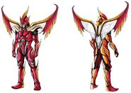 Phoenix with wings concept art