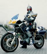 Blade riding Blue Spader
