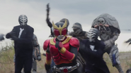 Kuuga fight in Heisei Generations Forever