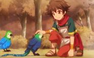 Ryouma taming Nightmare Rimel Bird.