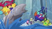 Screenshot Showing Railmin Fishing Out Zuzumin And A Fish