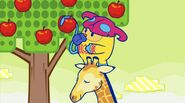 Screenshot Showing Zuzumin And A Giraffe