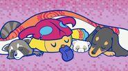 Screenshot Showing Zuzumin Sleeping With Some Furry Animals